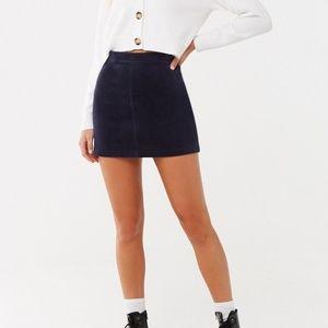 Navy Corduroy Skirt